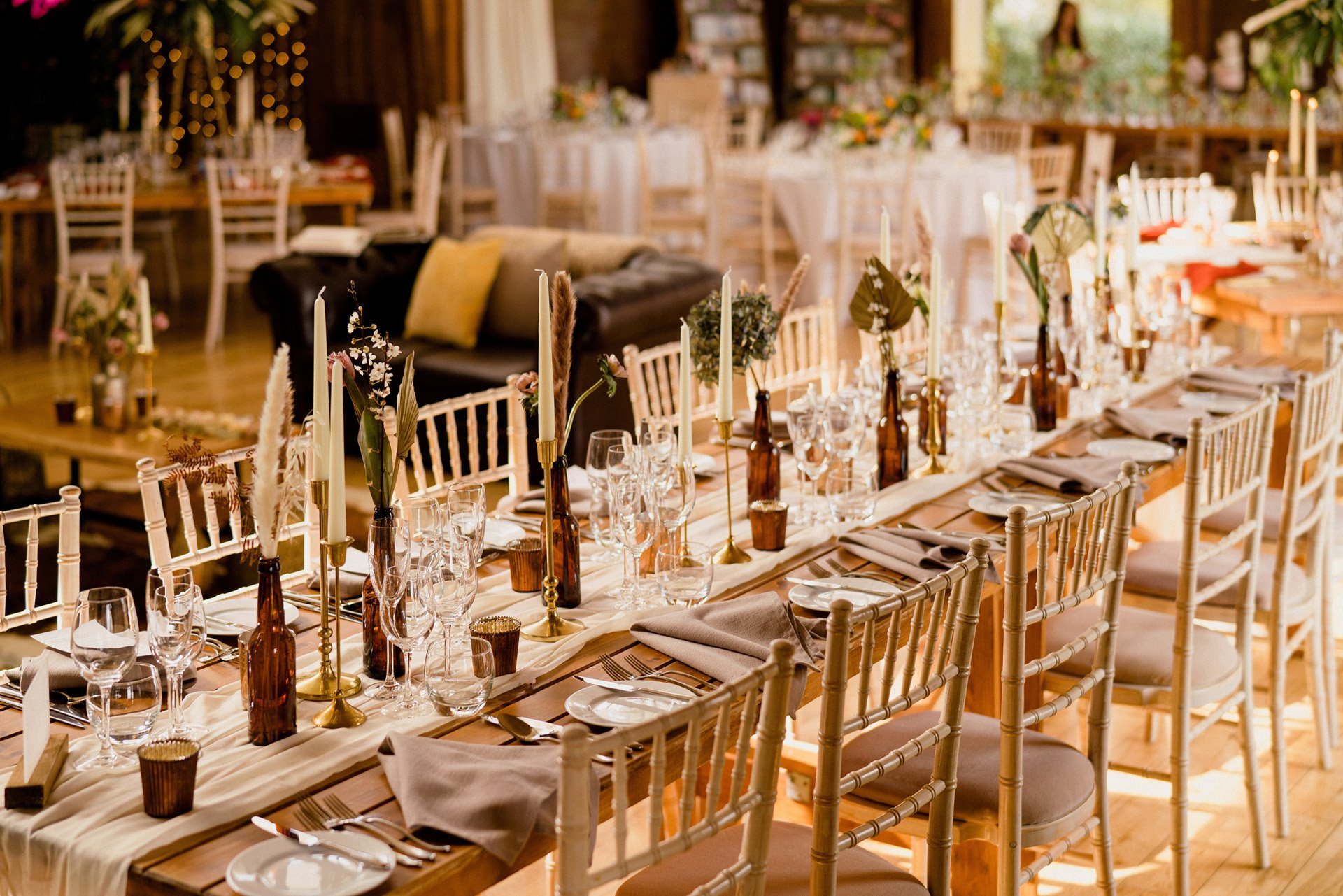 Banquet tables for spring wedding