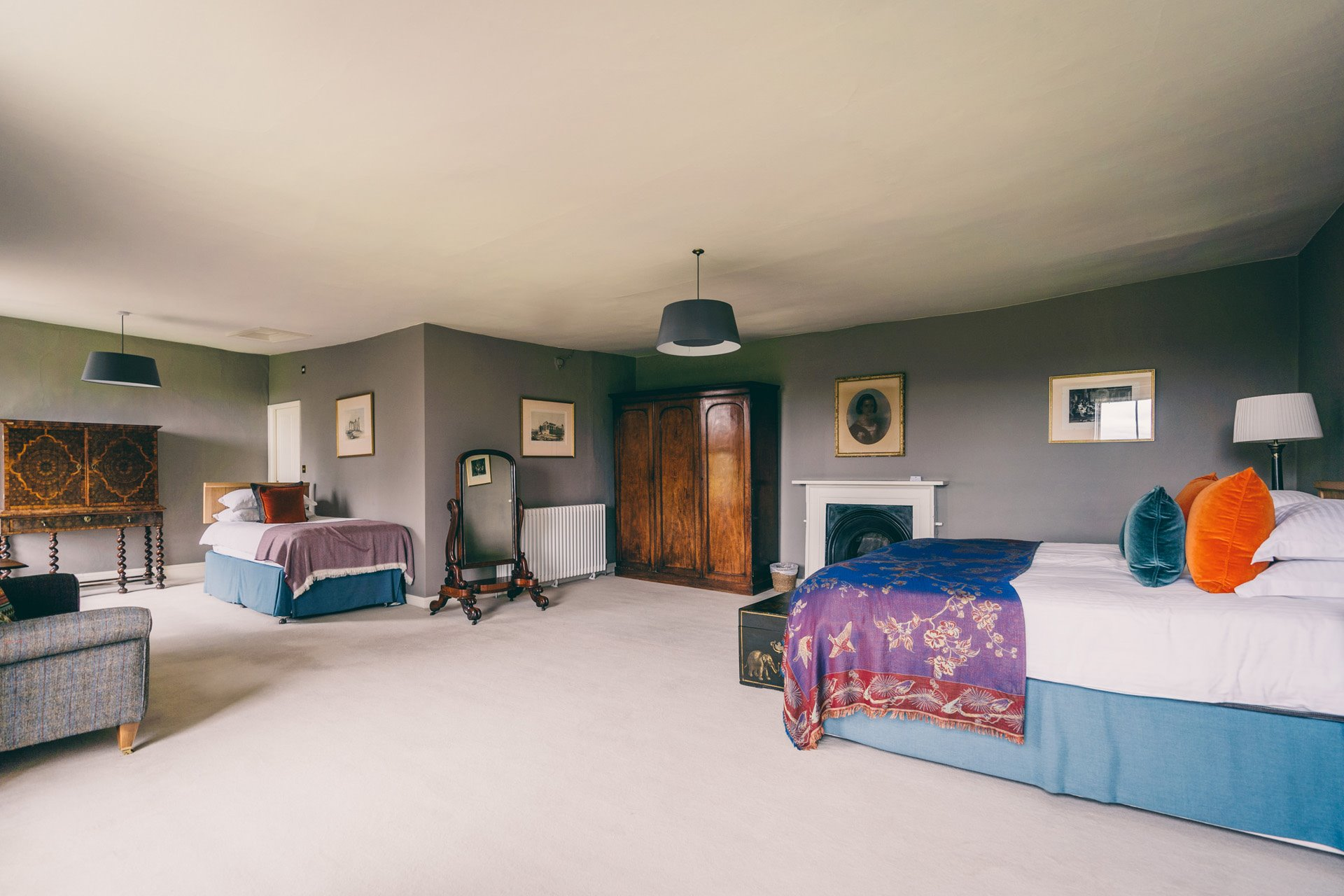 Nursery room wedding guest accommodation at Elmore Court