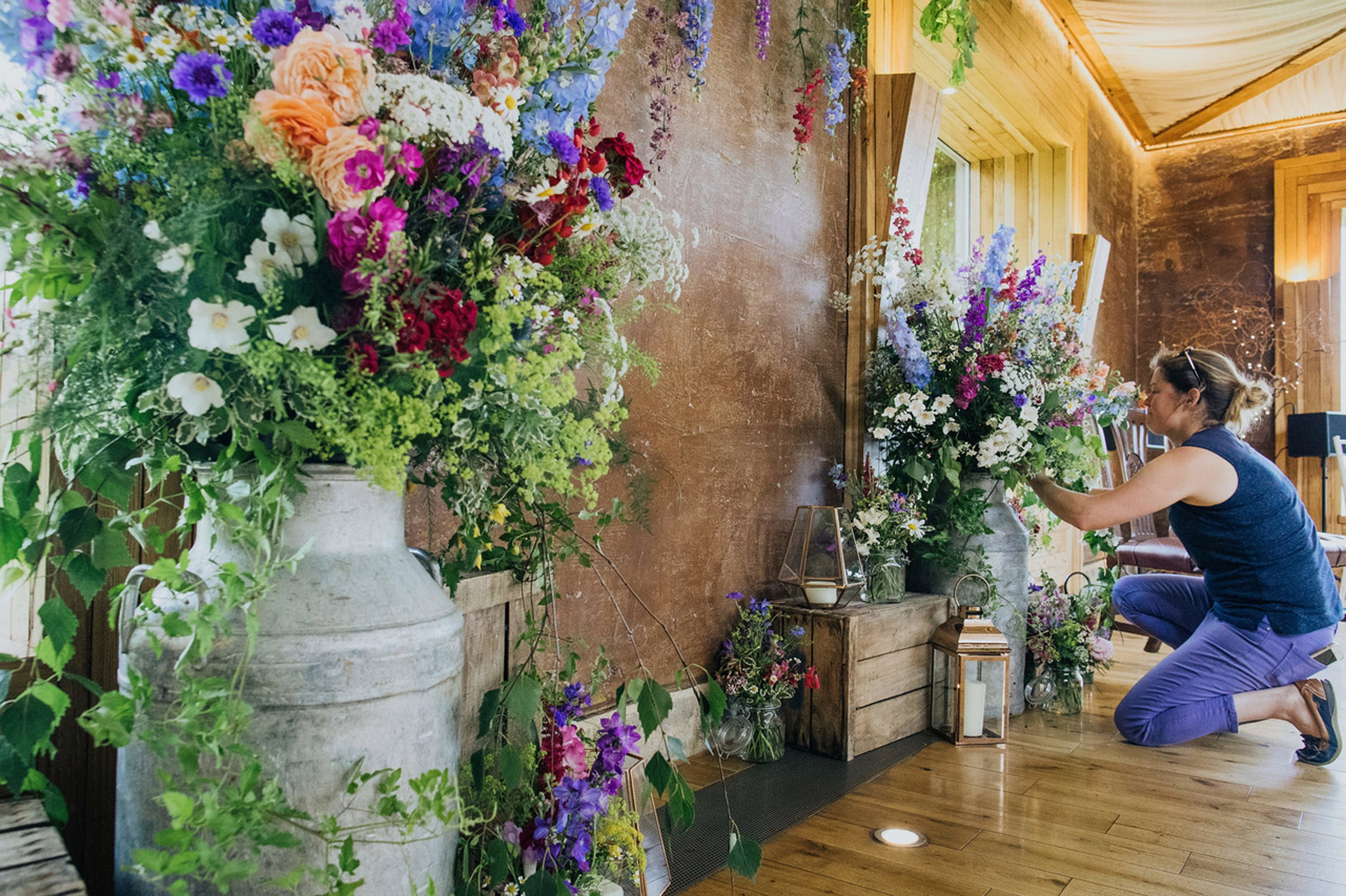 Summer wedding wildflowers at Elmore Court