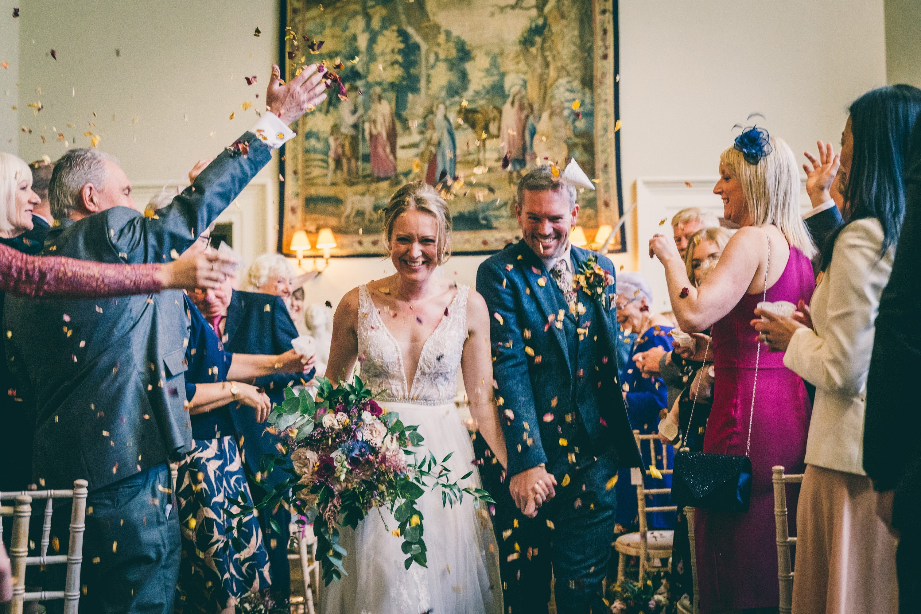 colourful wedding in the autumn