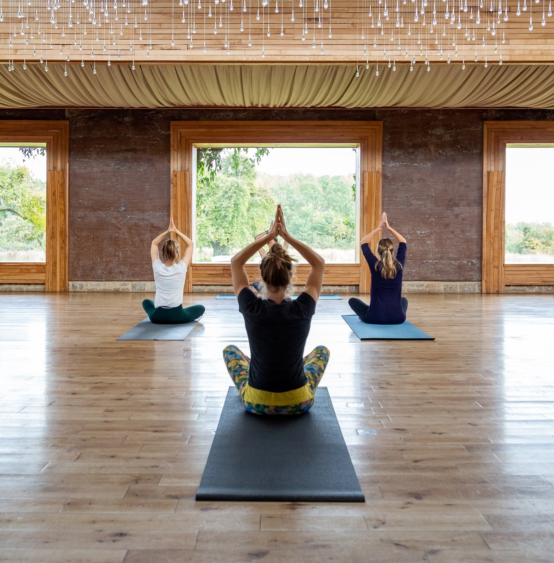 Yoga retreat at elmore court in the cotswolds