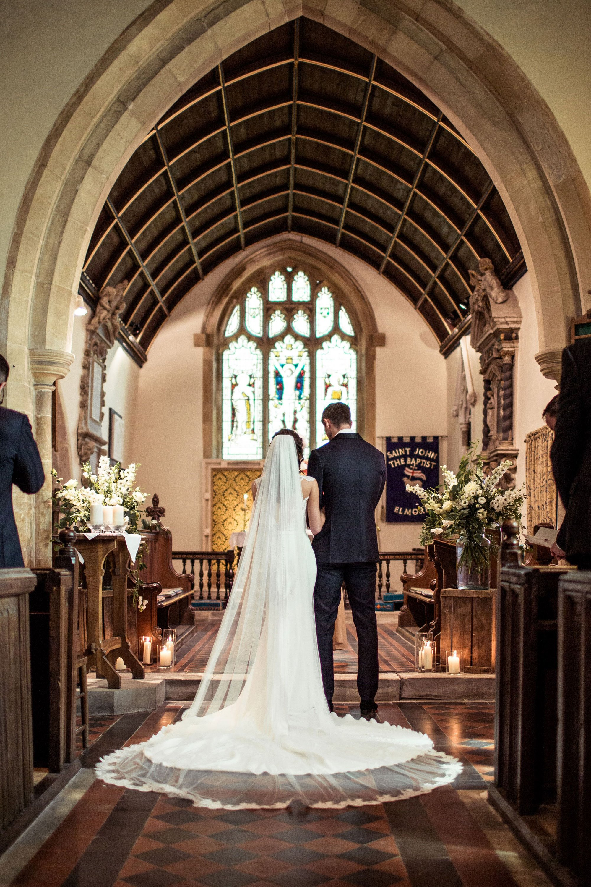 Wedding vows at a beautiful 15th century Elmore church in gloucestershire