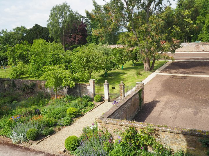 Walled garden at Elmore Court being renovated to produce more sustainable food for wedding menus at this eco friendly wedding venue in Gloucestershire