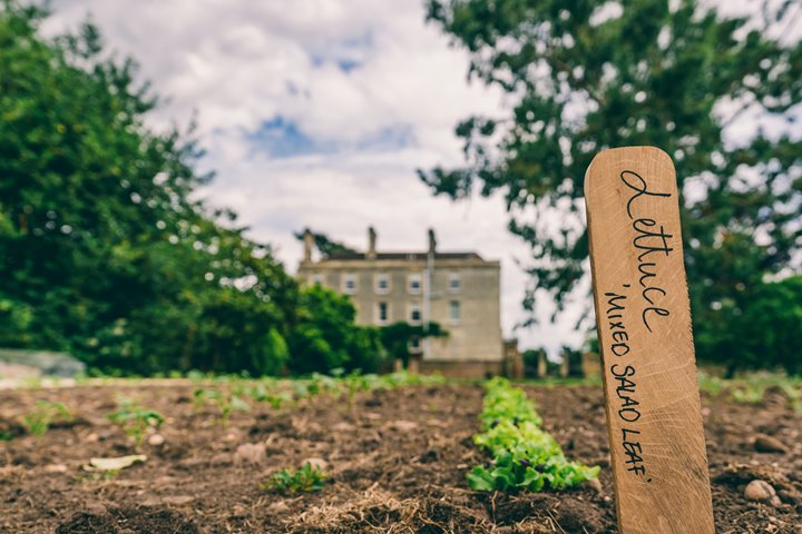 sustainable wedding venue with walled garden for organic home grown wedding food